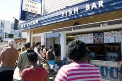Ice cream fish bar Stock Image
