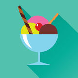 Ice Cream Flat Icon Royalty Free Stock Images