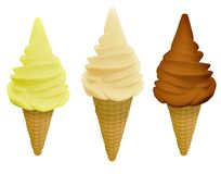 Ice cream flavours Stock Image