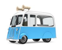Ice Cream Food Truck. On white background. 3D render Stock Photos