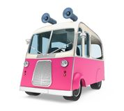Ice Cream Food Truck Isolated. On white background. 3D render Royalty Free Stock Image