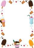 Ice Cream Frame Stock Images