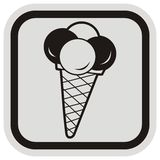 Ice cream, frame Stock Photography