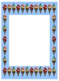 Ice cream frame. With ice cream theme on  background Royalty Free Stock Photos