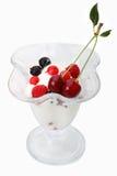 Ice cream with fresh fruit Royalty Free Stock Image