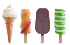 Ice cream and frozen lollies set Stock Image