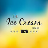 Ice Cream and Frozen Yogurt Logo. Vector vintage Emblem. Summer Logo design element. Retro label for Creamery. Stock Photos