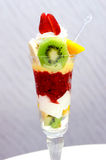 Ice cream with fruit Stock Images