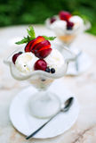 Ice cream with fruit Royalty Free Stock Image