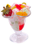 Ice cream with fruits and berries Royalty Free Stock Images