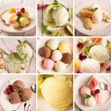 Ice cream and fruits Stock Photo