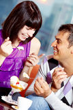 Ice-cream fun Stock Images