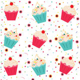 Ice cream. Funny ice cream pattern background Royalty Free Stock Photography