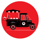 Ice cream and gelato cart. Creative detailed vector ice cream and gelato street truck, three colours design on three layers, easy to change colours. Pile of vector illustration