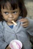 Ice cream girl Stock Image