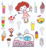 Ice cream and girl Royalty Free Stock Image