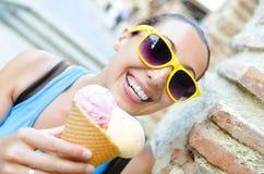 Ice cream girl Stock Photography