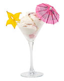 Ice-cream in a glass Royalty Free Stock Photography