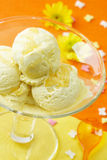 Ice cream in a glass Stock Photo