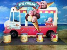 Ice Cream Graffiti Royalty Free Stock Images