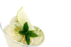 Ice cream with green tea Stock Photos