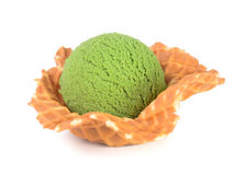Ice cream. green tea ice cream on a background Royalty Free Stock Image