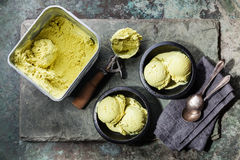 Ice cream Green tea Stock Photos