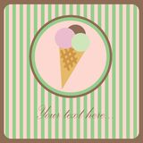 Ice cream greeting card Royalty Free Stock Photo