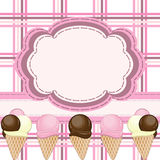 Ice cream greeting card Stock Images