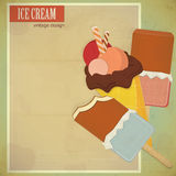 Ice cream on grunge background Stock Images
