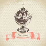 Ice cream. Hand drawn illustration Stock Photo