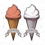 Ice cream, hand drawn illustration Stock Photography