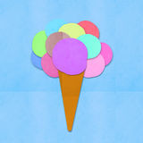 Ice cream on hand made paper Stock Image