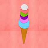 Ice cream on hand made paper Royalty Free Stock Image