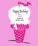 Ice cream/ Happy birhtday / Have a great day Stock Photo