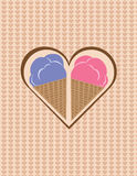 Ice cream in a heart Royalty Free Stock Photography