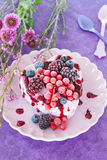 Ice cream in a heart-shape Royalty Free Stock Photos