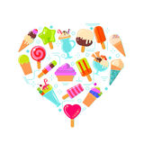 Ice cream in heart shape Royalty Free Stock Photography