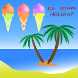 Ice cream holiday. Ice cream  illustration holiday Stock Image