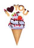 Ice cream. I love you. Stock Image