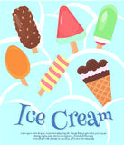 Ice Cream and the Ice background Poster Royalty Free Stock Photography