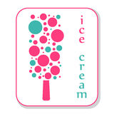 Ice cream icon Royalty Free Stock Photo