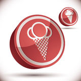 Ice cream icon. Royalty Free Stock Image