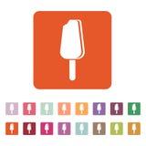 The ice cream icon. Eskimo pie symbol. Flat Stock Photo