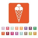 The ice-cream icon. Ice cream symbol. Flat Royalty Free Stock Photo
