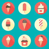 Ice-cream icon set Stock Images