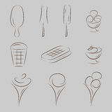 Ice cream icon set Stock Photo