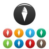 Ice cream icons set color vector illustration