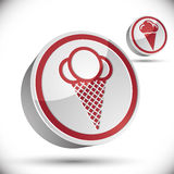 Ice cream icon. Royalty Free Stock Photo