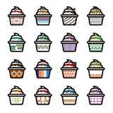 Ice Cream Icons Stock Photo